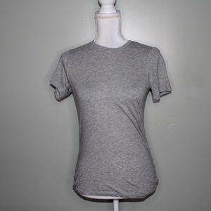 everlane women gray pima cotton shirt  SZ XS